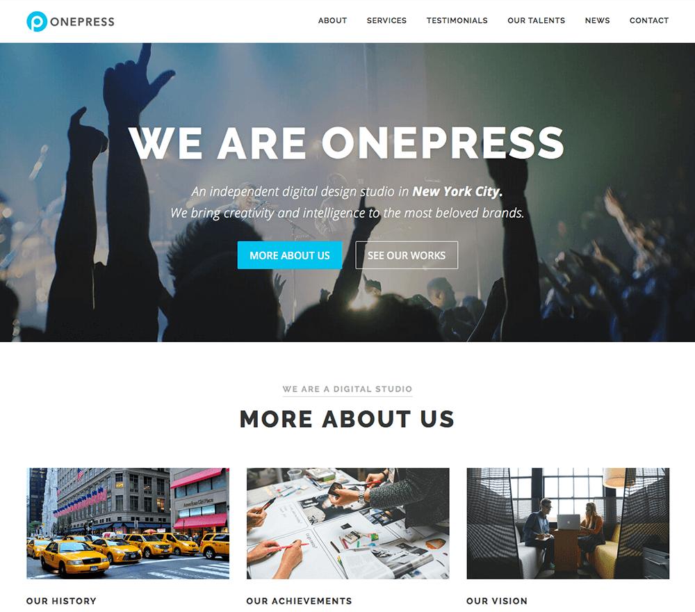 OnePress 免费企业WordPress主题 插件模板图片