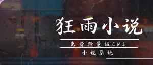 狂雨小说cms 网页源码图片