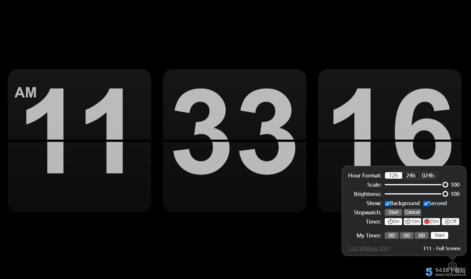 精美多功能翻页时钟源码 灵感来源于fliqlo时钟图片