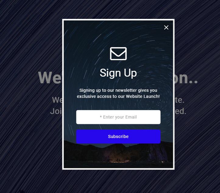 在线邮箱订阅反馈html5模板
