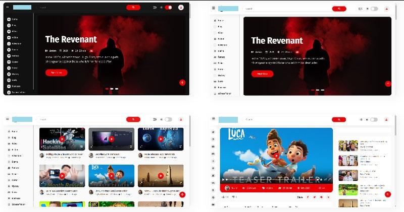 社交媒体电影视频网HTML5模板