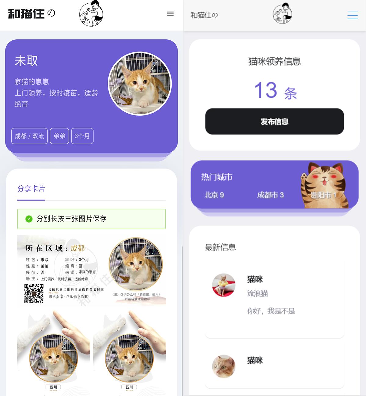 流浪猫流浪狗H5完整运营源码下载/可封装APP